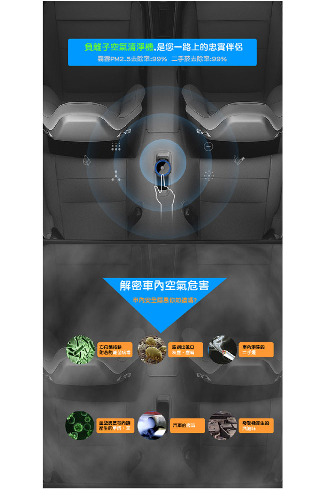 速霸 KT777 螺旋式渦輪風扇 高效能負離子空氣清淨機-黑