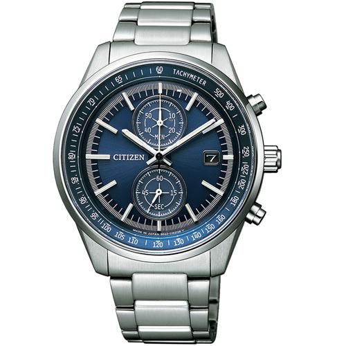 (無卡分期6期)CITIZEN星辰潮流魅力光動能手錶(CA7030-97L)-藍