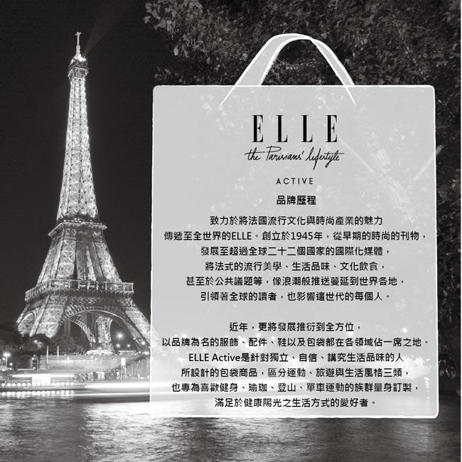 ELLE Active 格紋系列-後背包-中-藍色