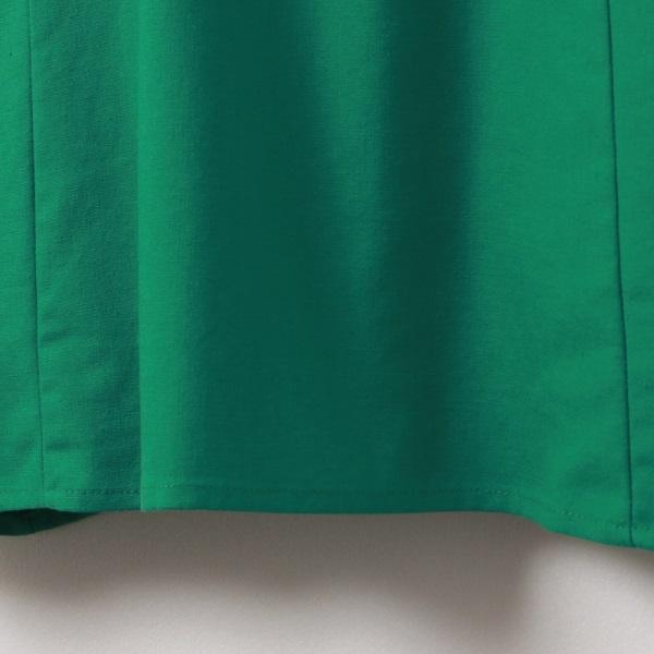 純色質感修身剪裁口袋V領拼接短袖上衣-OB大尺碼