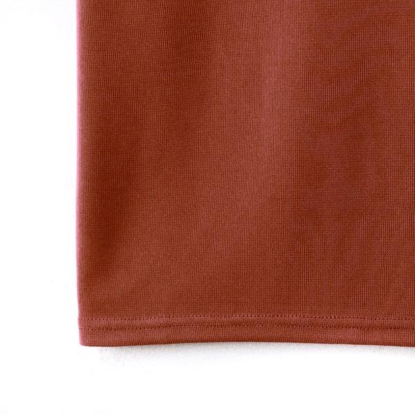 純色仿針織V領彈力上衣-OB大尺碼