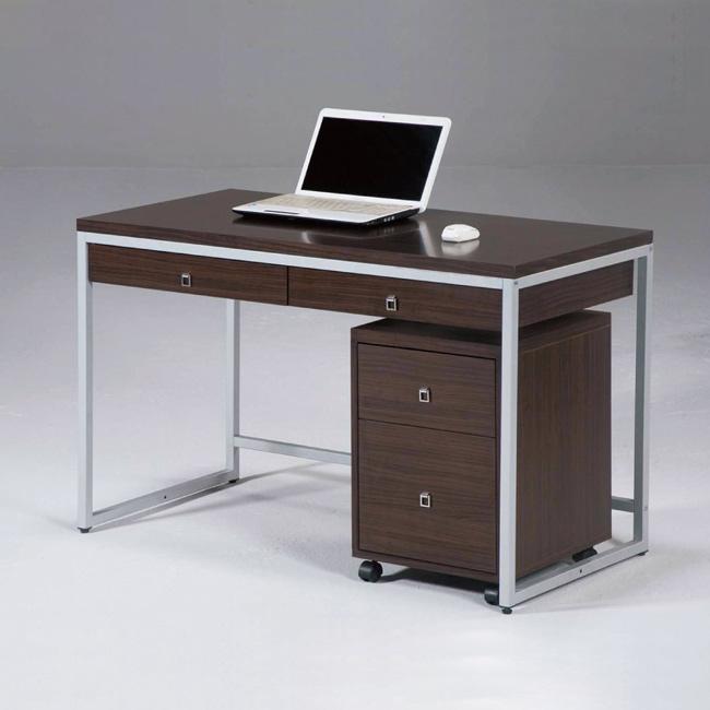 AS-蓋瑞4尺雙抽書桌-120x60x76cm(不含活動櫃)