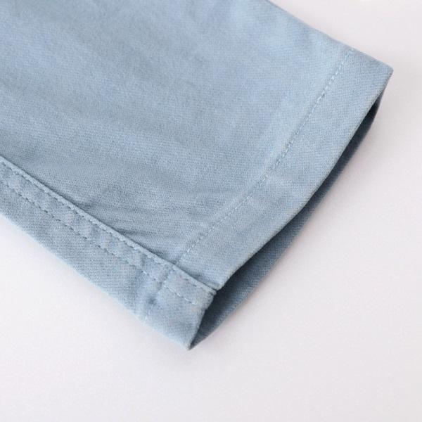 彈性刷色窄管長褲-OB大尺碼