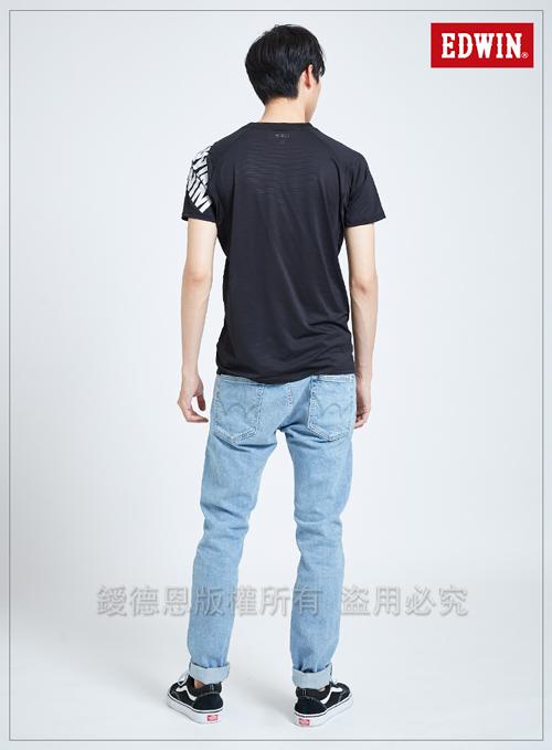 EDWIN 東京系列涼感機能短袖T恤-男-黑色