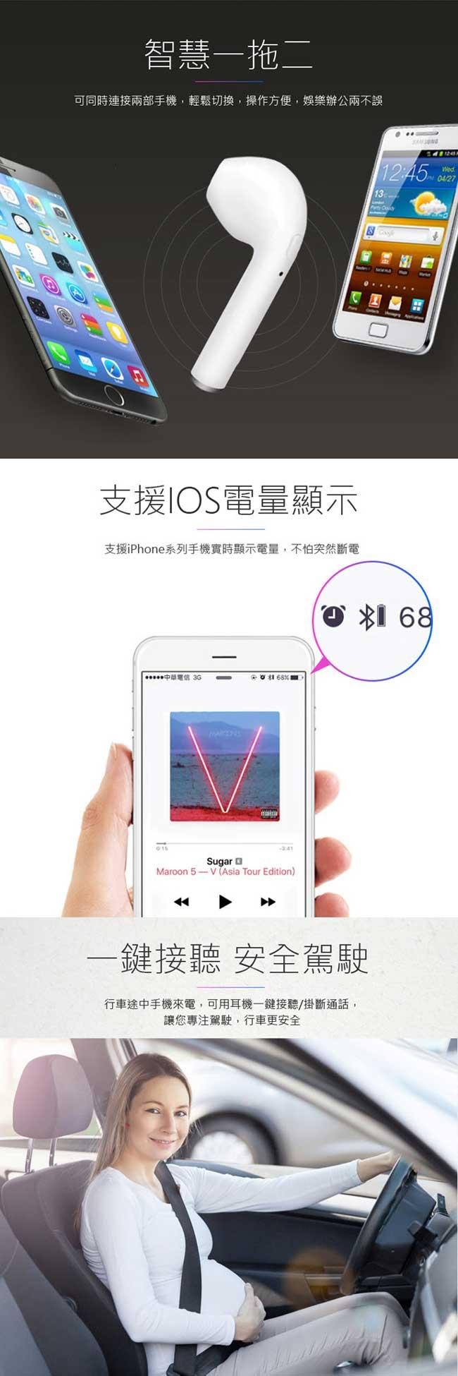 IS愛思 i7R 無線單耳式藍牙耳機