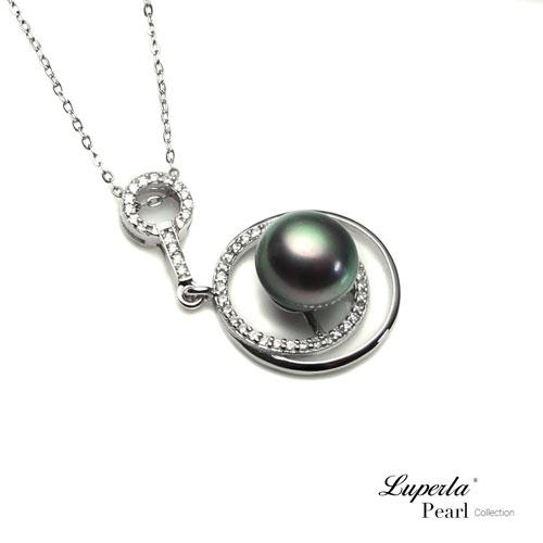 大東山珠寶 純銀晶鑽天然珍珠項鍊 夏夜星河