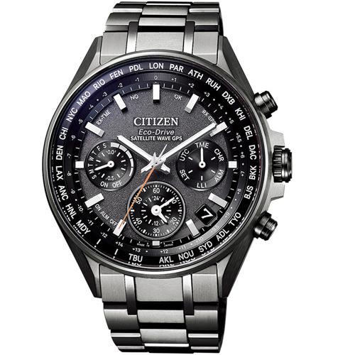 (無卡分期24期)CITIZEN星辰 GPS 衛星對時鈦金屬廣告款腕錶(CC4004-58E)