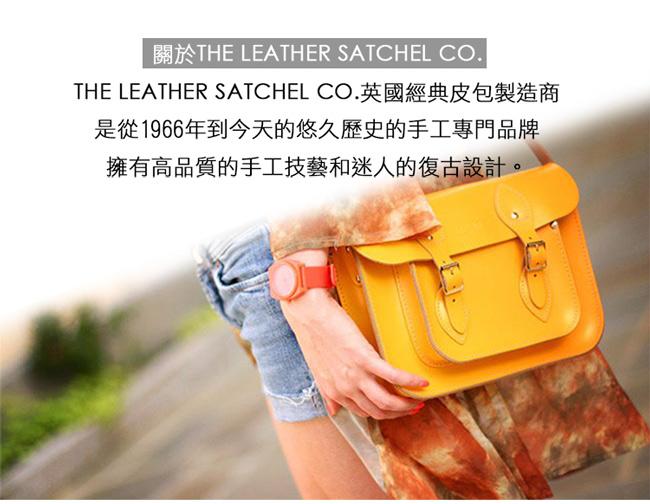 The Leather Satchel 英國手工牛皮劍橋包 肩背手提包 香草白 11吋