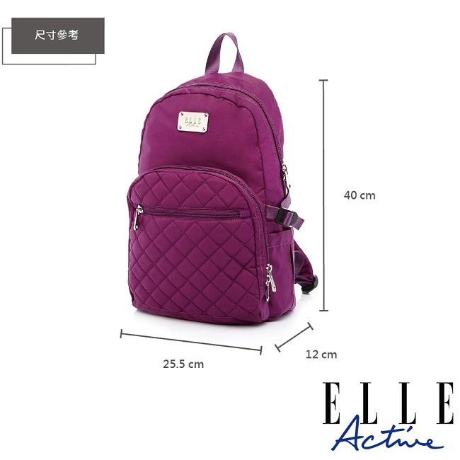 ELLE Active 生活印記系列-後背包-大-紫色