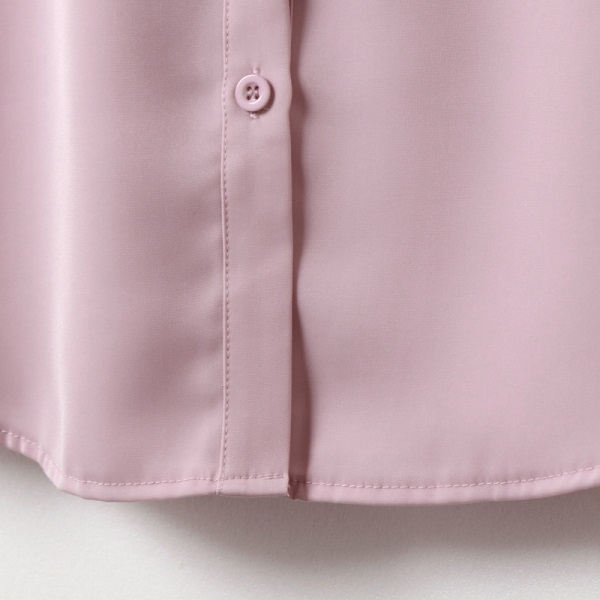 優雅蕾絲透膚拼接雪紡長袖襯衫-OB大尺碼