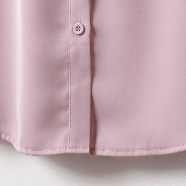 優雅蕾絲透膚拼接雪紡長袖襯衫-OB嚴選