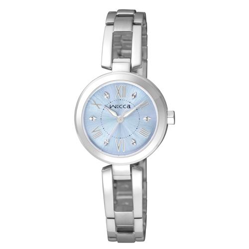 CITIZEN wicca甜美風格手鐲腕錶/藍