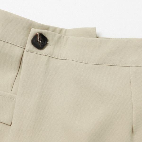 鈕釦造型假口袋不對稱A字褲裙-OB嚴選