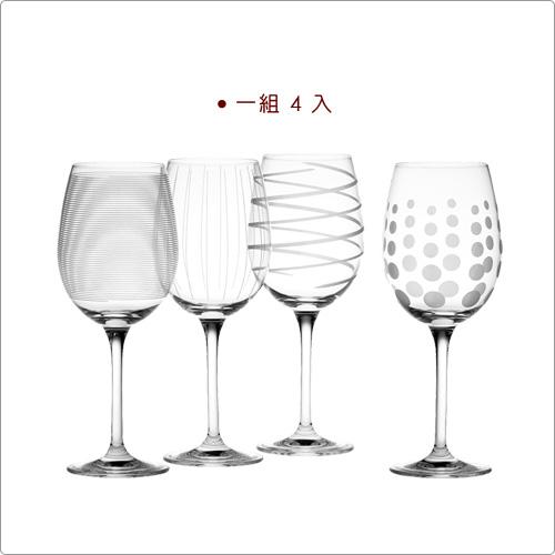 CreativeTops Mikasa紋飾白酒杯4入(450ml)