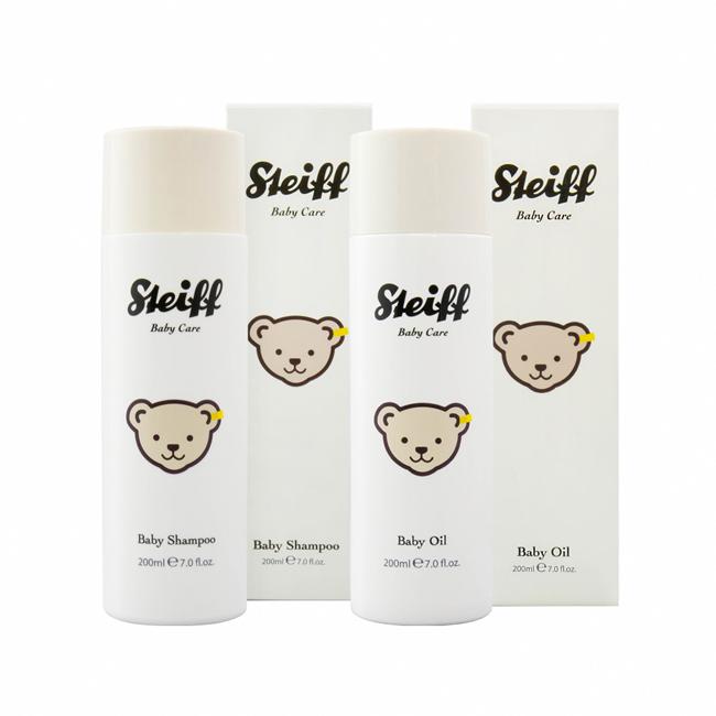 STEIFF 媽咪與寶貝 洗髮按摩潤膚 優惠組