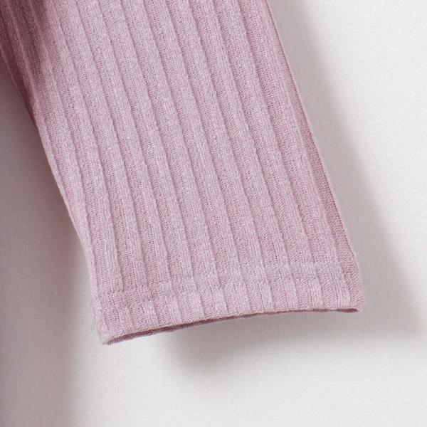 兩面穿V領/圓領針織坑條七分袖上衣-OB大尺碼