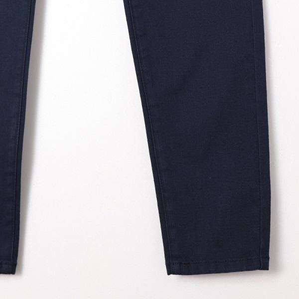 素色基本款彈性舒適開釦窄管長褲-OB嚴選
