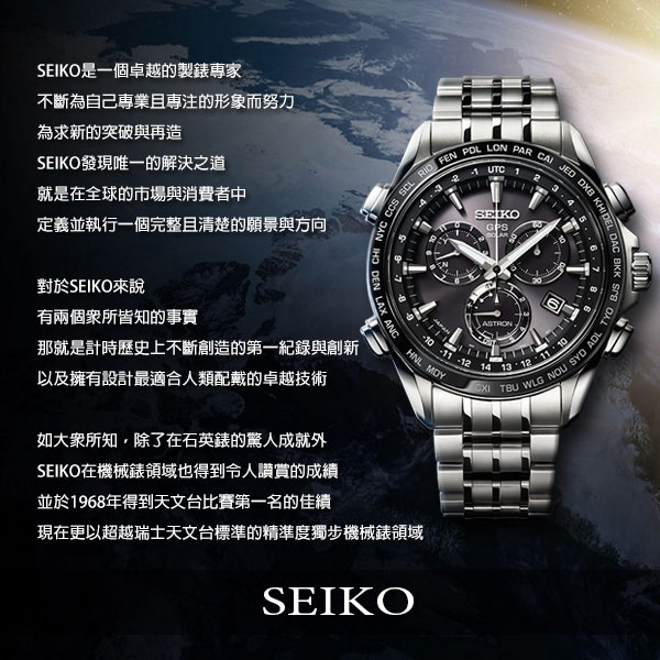 SEIKO精工 Criteria 玩酷太陽能計時碼錶(SSC685P1)-42mm