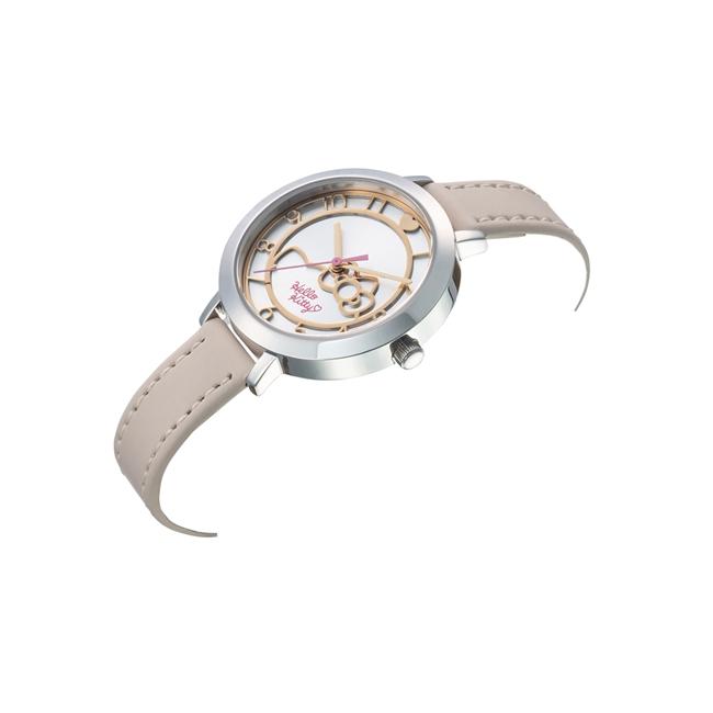 HELLO KITTY 凱蒂貓 微甜夢幻氣質手錶 卡其x銀白/35m