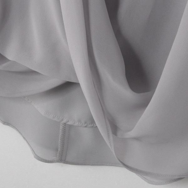 假兩件式五分袖雪紡上衣-OB大尺碼