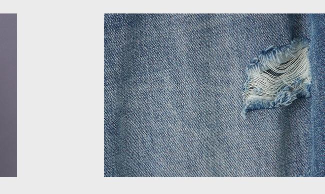 gozo 個性刷破補釘窄管褲(二色)