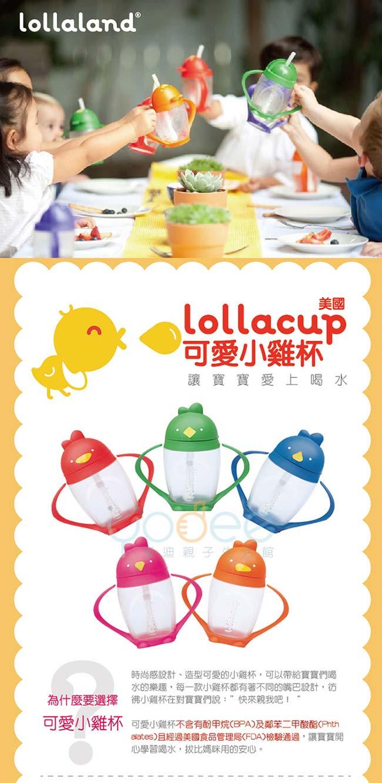 美國Lollaland可愛造型小雞杯 吸管學習杯/水壺296ml (烏骨雞/黑色)