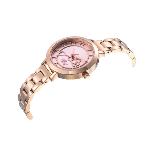 HELLO KITTY 凱蒂貓 微甜夢幻氣質手錶 玫瑰金/35mm