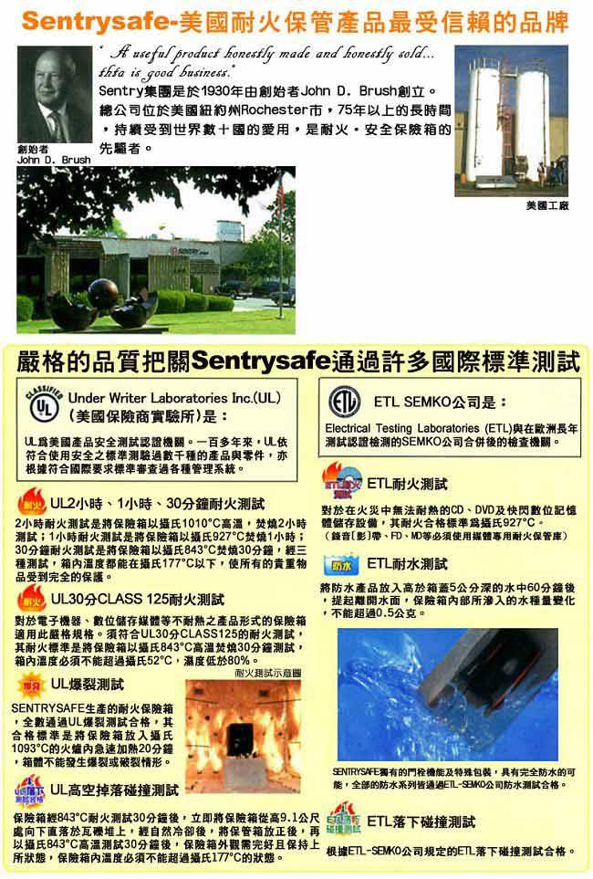 Sentry Safe 美國金庫 電子式商務防火金庫(大)S7771