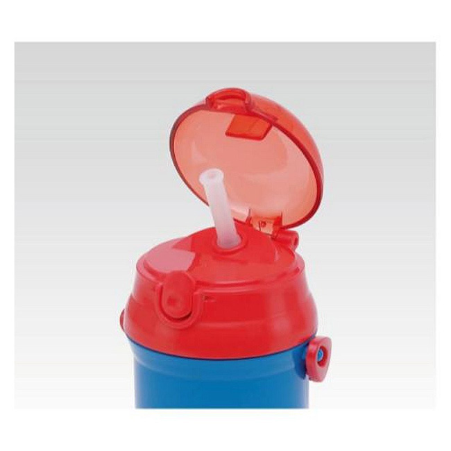 WAVA 日本SKATER超人塑膠水壺彈蓋吸管340ML