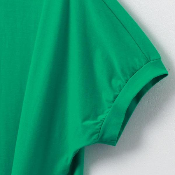 純色高含棉綁帶下襬公主袖上衣-OB大尺碼