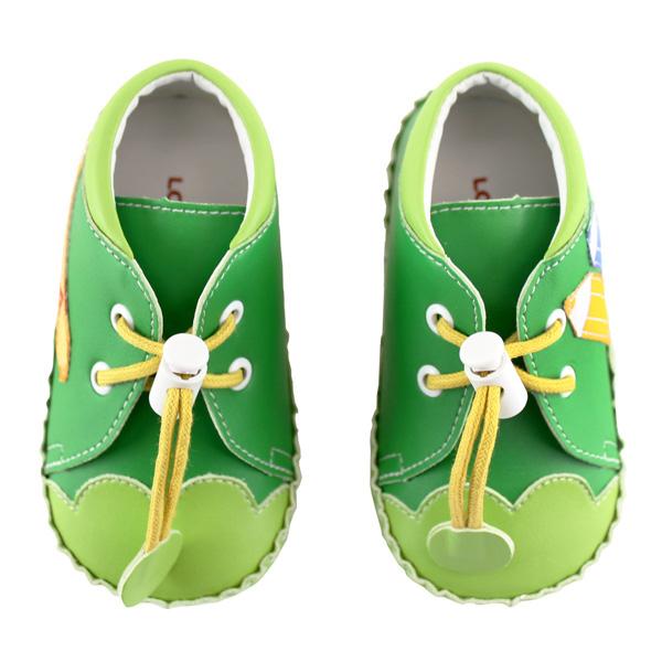 愛的世界 彩色鉛筆寶寶鞋(高筒)/學步鞋-台灣製-