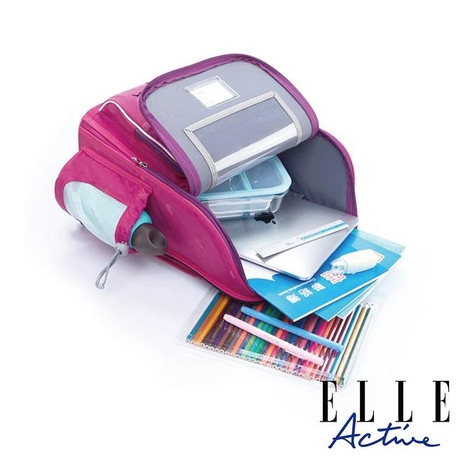ELLE Active 經典復刻系列-兒童護脊書包-桃紅色