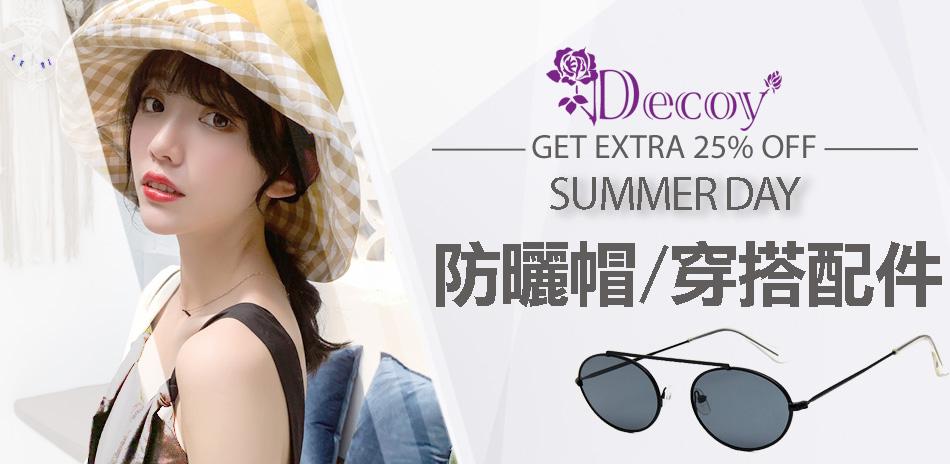 Decoy防曬帽/皮帶/太陽眼鏡全館75折起