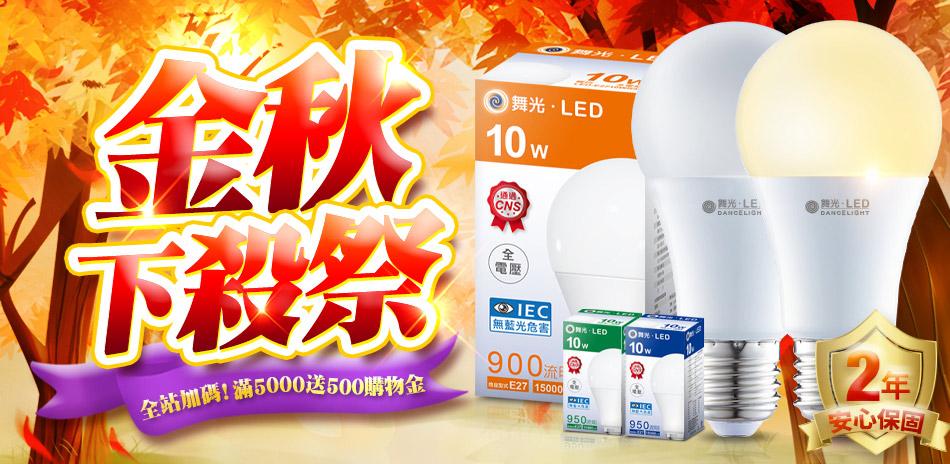 金秋下殺祭 舞光燈具75折!