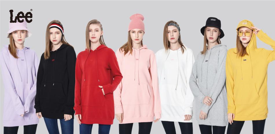 Lee 網路獨家販售 七色長版帽T上衣