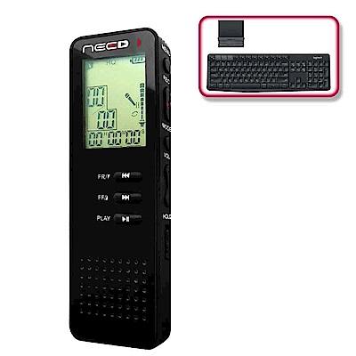(震旦+羅技)NEED尼德 專業型輕巧錄音筆(CR-801)+羅技 K375s 無線鍵盤支