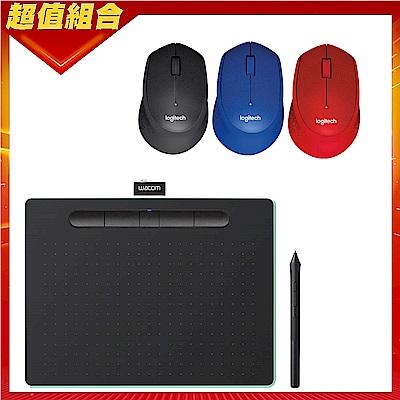 (送羅技m331滑鼠)Wacom Intuos Comfort Plus Medium 繪圖板 (藍芽版)