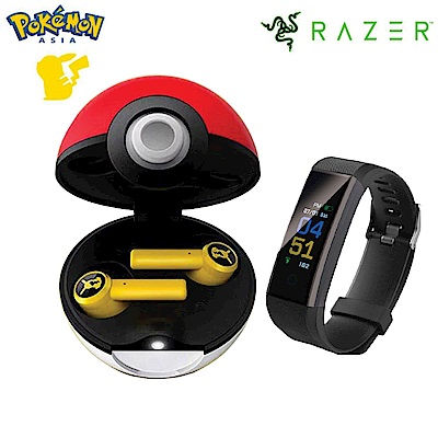[超值組]Razer 寶可夢皮卡丘 真無線+E-books V5 藍牙多功能運動智慧手環