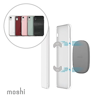 [超值組]Moshi iGlaze forXR 風尚晶亮保護殼+磁吸固定基座組