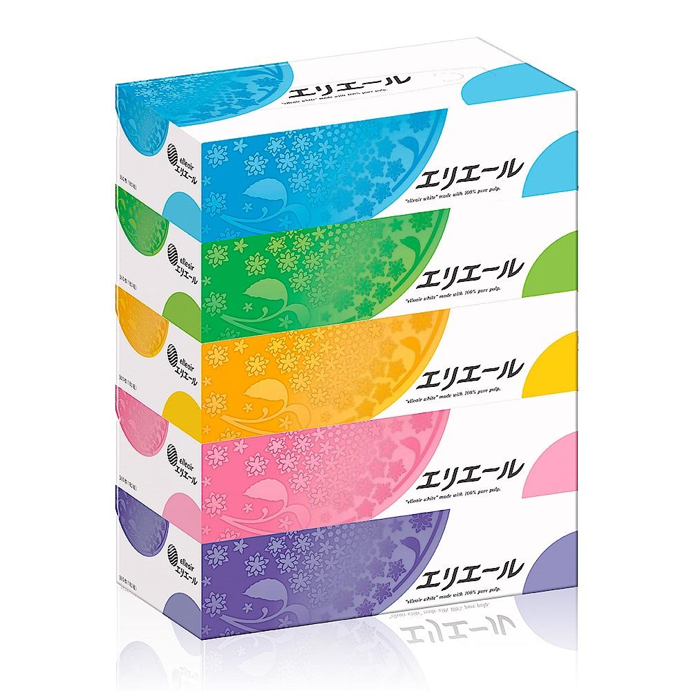 [限時搶購](4串組)日本大王elleair 柔膚抽取式面紙(180抽x5盒) product image 1