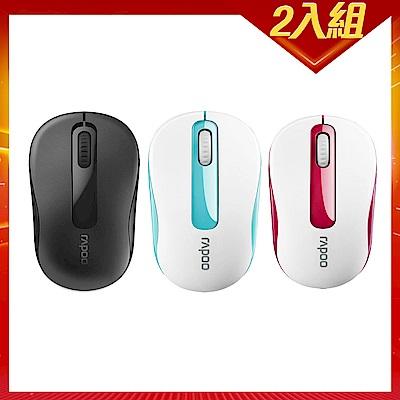 (時時樂兩入組)Rapoo 雷柏M10 Plus 2.4G 無線滑鼠