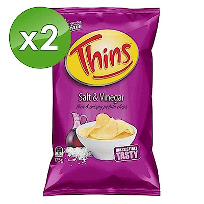 澳洲THINS 洋芋片酸醋口味 (175g) X2包