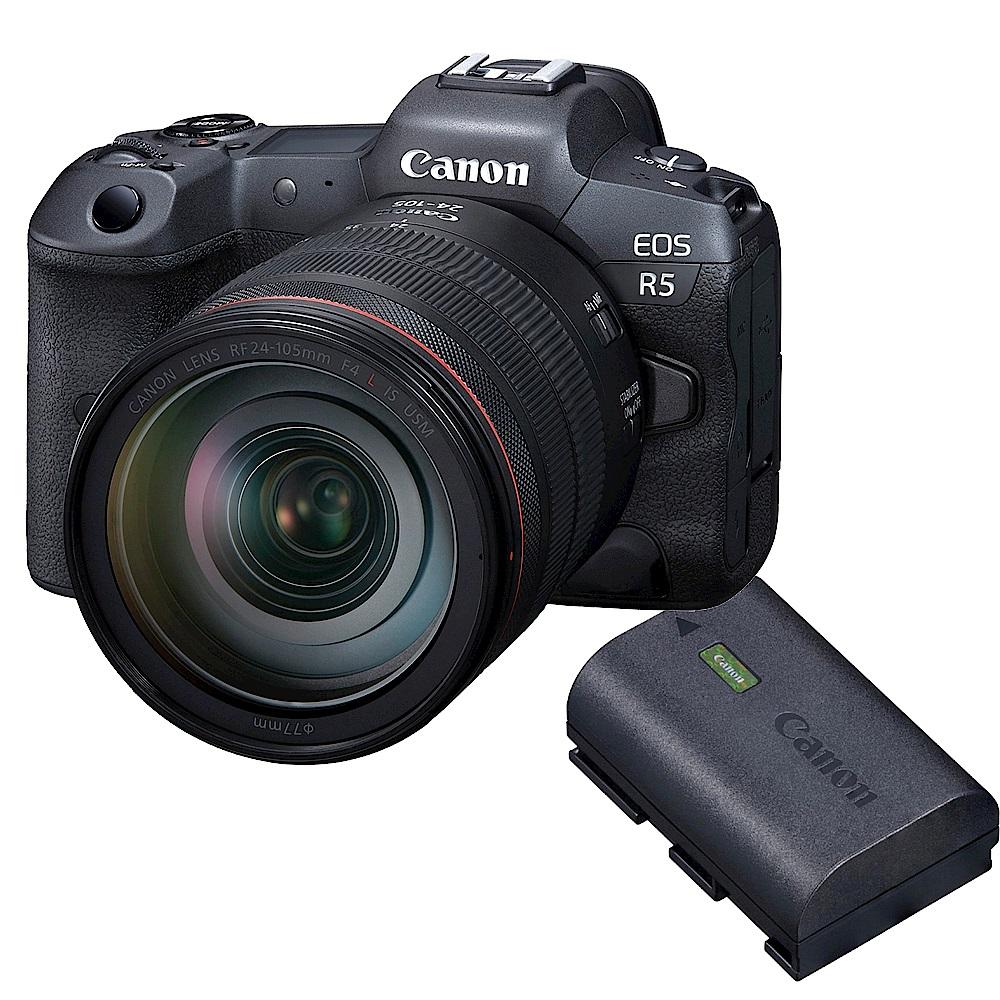 EOS R5 單鏡組 RF 24-105mm f/4 IS USM + Canon 原廠電池 LP-E6NH 組  product image 1