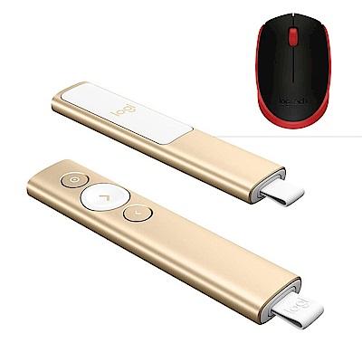羅技 M170 無線滑鼠+SPOTLIGHT簡報遙控器