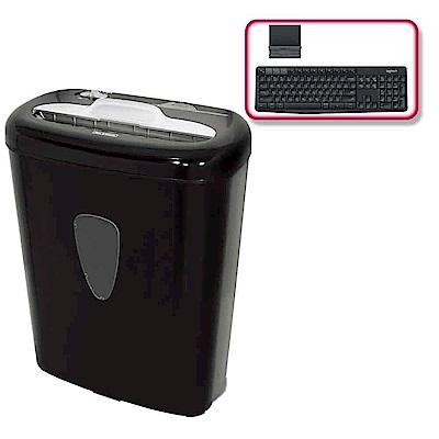 (震旦+羅技)震旦 8張碎段式碎紙機(AS800CD)+羅技 K375s 無線鍵盤支架組合