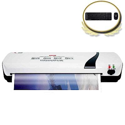 (震旦+羅技)MARUSA3冷/熱護貝機ML-2000HC + 羅技MK220無線鍵鼠組