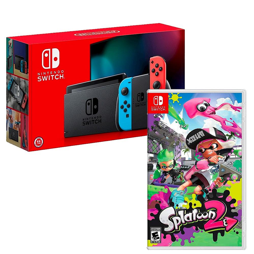 任天堂 Nintendo Switch 主機 電池持續加長 漆彈大作戰 2 組合 台灣公司貨 product image 1