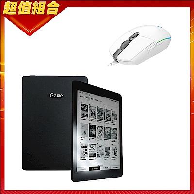 HyRead Gaze Note 全平面電子紙閱讀器+羅技 G102 炫彩遊戲滑鼠-白