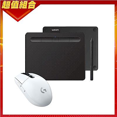 【動漫達人包】Wacom Intuos Comfort Small 藍牙繪圖板(黑)+羅技 G304無線電競滑鼠