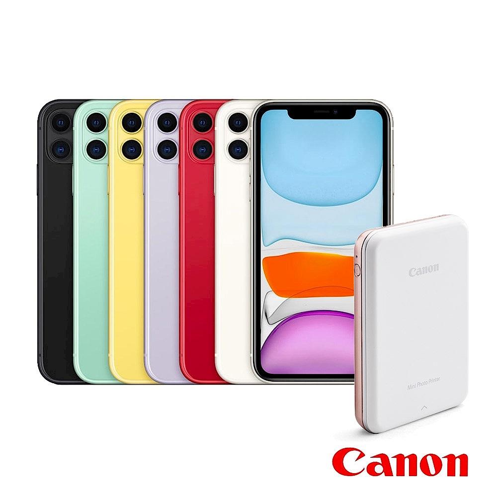 Apple超值組-iPhone 11 64G 智慧型手機+Canon迷你相片印表機